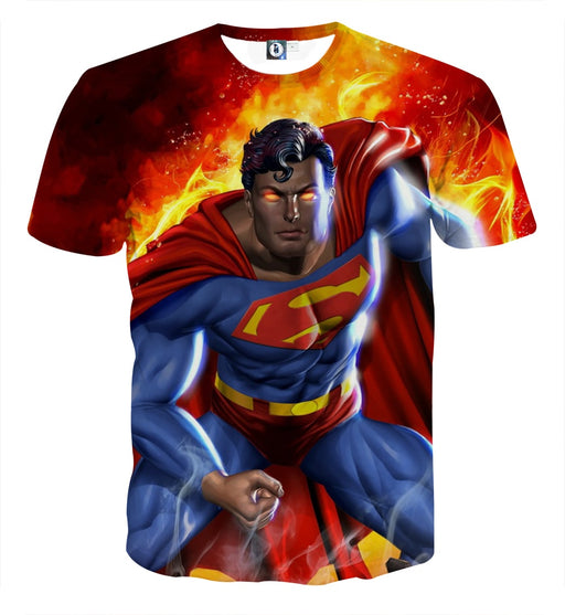 Superman Is On Fire Unique Design Full Print T-Shirt