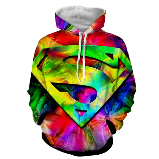 Superman Super Colors Vibrant Design Full Print Hoodie