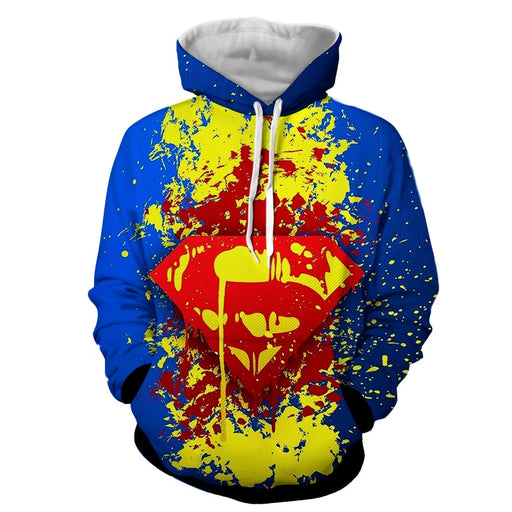 Superman Super Cool Signature Design Full Print Hoodie