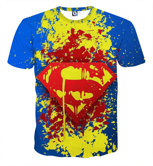 Superman Super Cool Signature Design Full Print T-Shirt