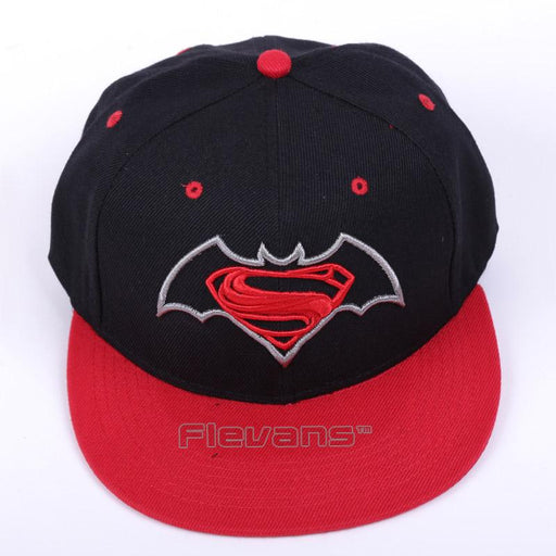 Superman Vs Batman Cool Red Streetwear Snapback Hat Cap