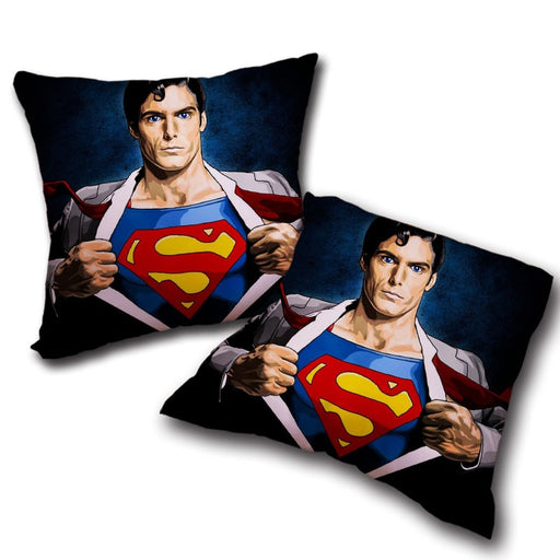 Superman Wide Chest Cool Comic Design Comfy Throw Pillow