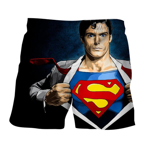 Superman Wide Chest Cool Comic Design Boardshorts