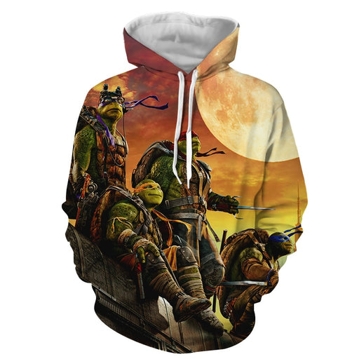 Teenage Mutant Ninja Turtles Superhero Orange Sunset Hoodie