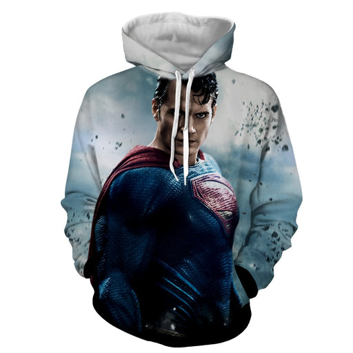 The Aggressive Superman Impression Design Full Print Hoodie