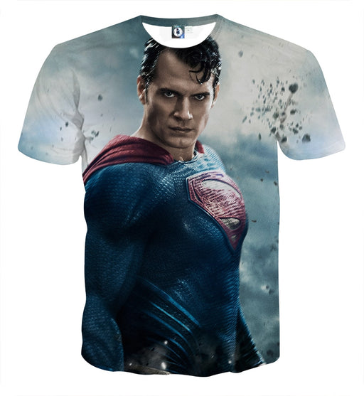The Aggressive Superman Impression Design Full Print T-Shirt