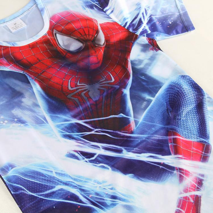 The Amazing Spider Man Vs Villain Elecrto Dope Full Printed T-shirt