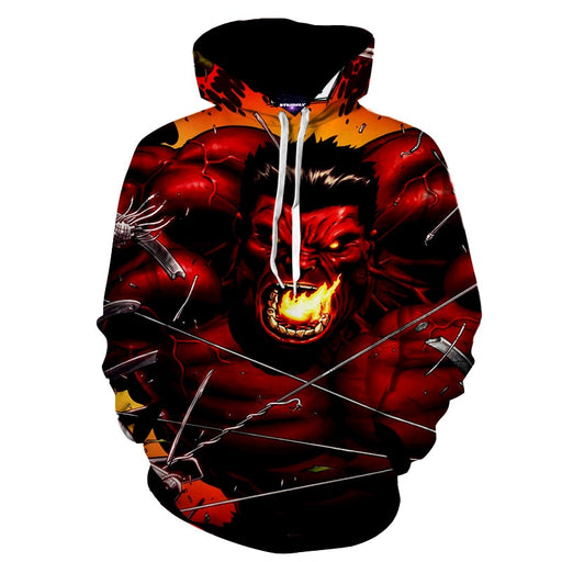 The Angry Firing Hulk Avengers Superhero Full Print Hoodie
