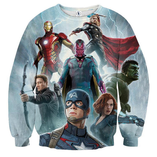 The Avengers Age of Ultron Main Characters Print Sweatshirt
