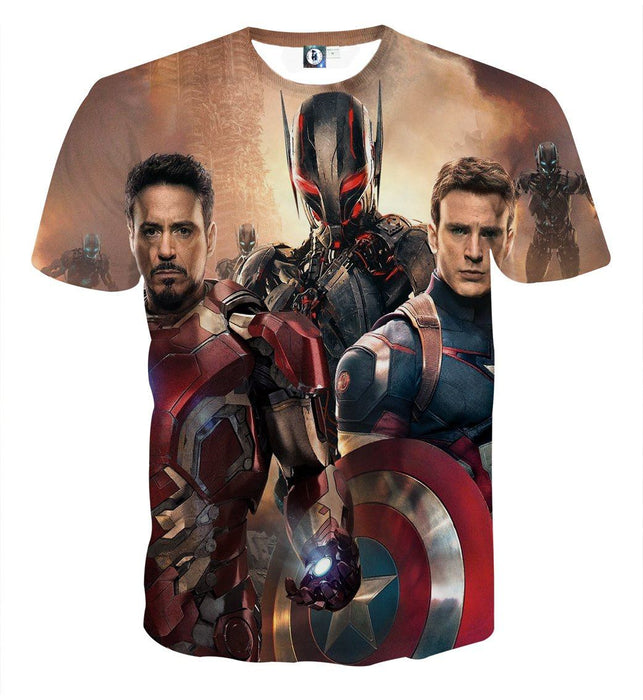 The Avengers Captain America Iron Man Ultron Dope 3D T-Shirt