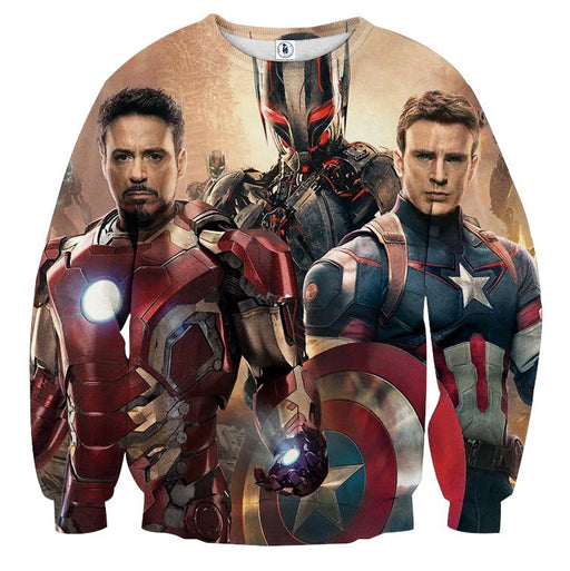 The Avengers Captain America Iron Man Ultron Dope Sweatshirt