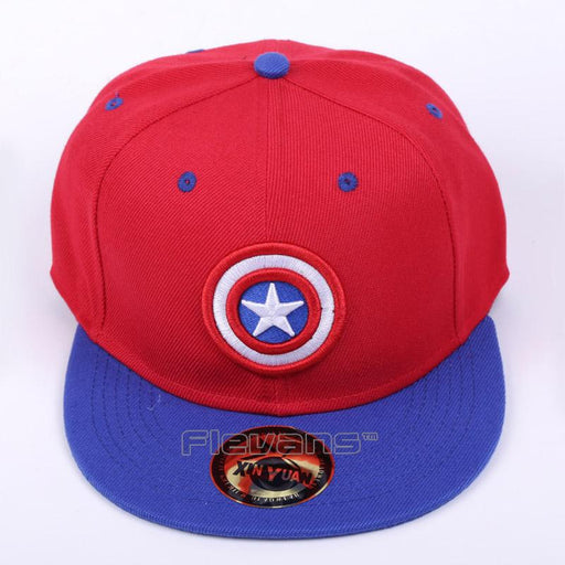The Avengers Captain America Logo Streetwear Red Snapback