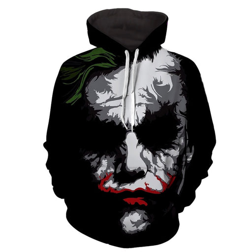 The Bad Ass Psychopath Joker Design Full Print Hoodie