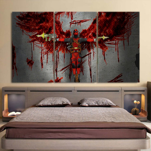 The Bloody Superhero Stylish Deadpool 3pcs Canvas Print