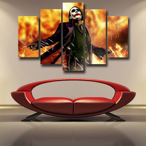 The Cold-Blooded Supervillain Joker 5pcs Canvas Print