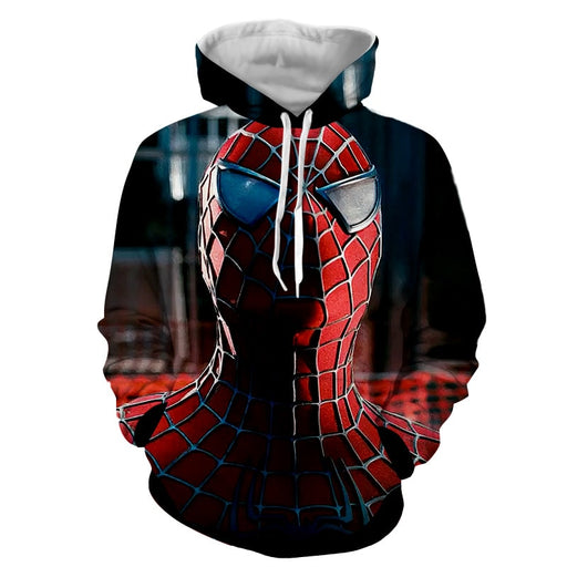 The Cool Spider-Man Close-Up Print Design Dope Hoodie
