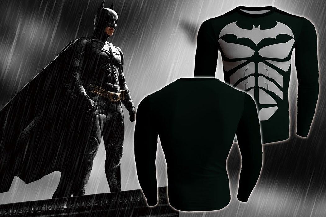 The Dark Knight Long Sleeves 3D Print Design Gym T-shirt