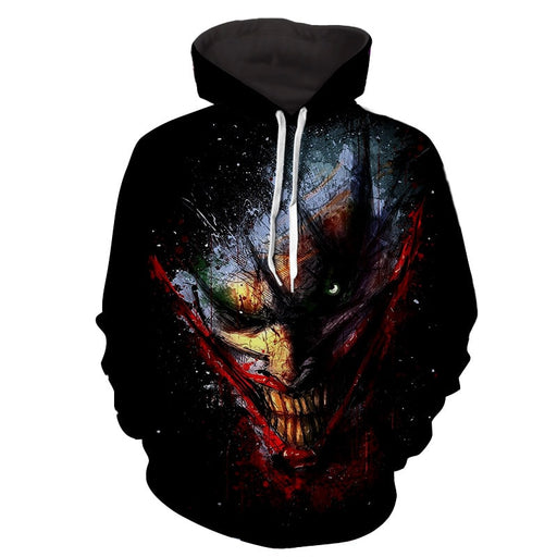 The Devilish Look Of Joker Design Full Print Hoodie