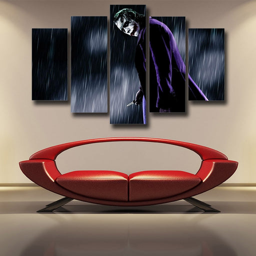 The Exhausted Weary Joker Dark 5pcs Wall Art Canvas Print