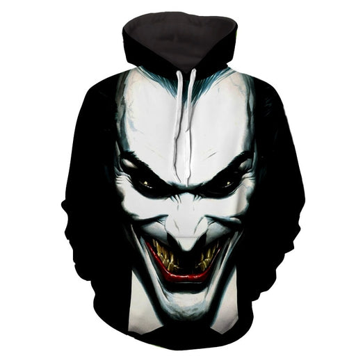 The Fatal Smile Of Joker Unique Design Full Print Hoodie