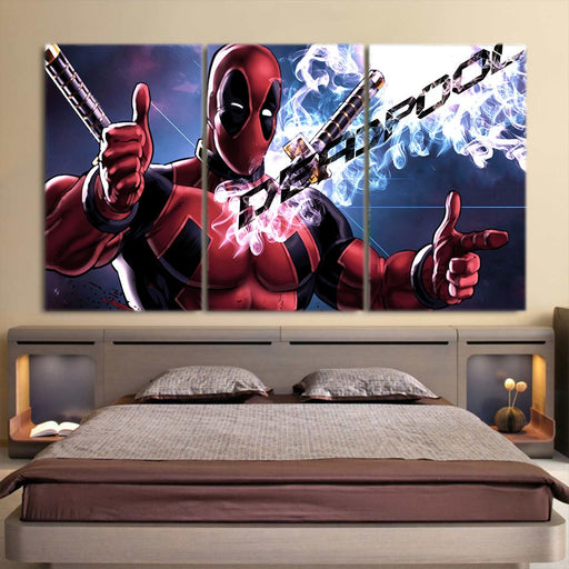 The Fearless Comic Deadpool Cool 3pcs Wall Art Canvas Print