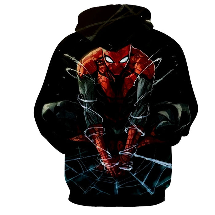 The Fierce Spider-Man 3D Design Cool Hoodie