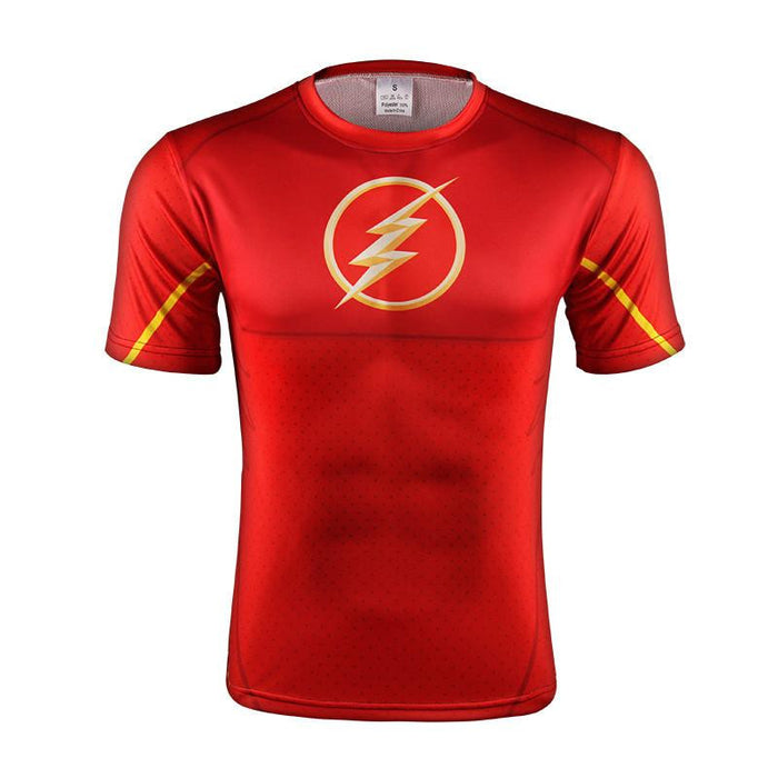 The Flash DC Comic Superhero Thunderbolt Logo Modern Gym T-shirt