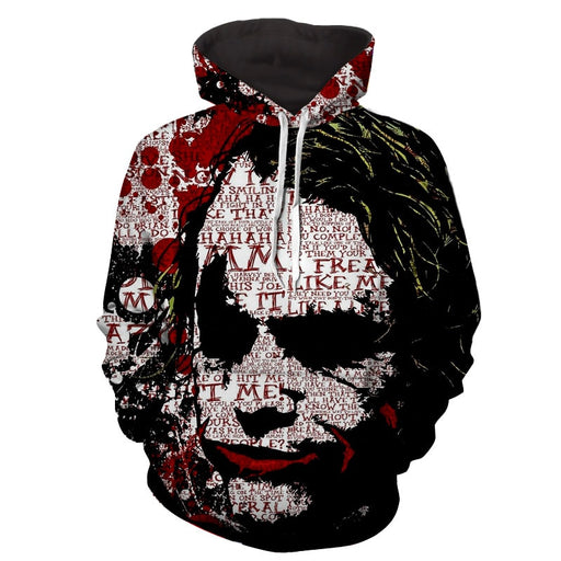 The Freakin Badass Joker Bloody Design Full Print Hoodie