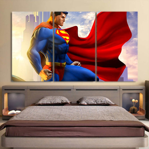 The Great Superman In the Universe Design 3pcs Canvas Print