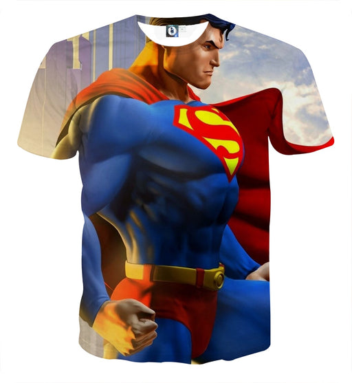 The Great Superman In the Universe Design Full Print T-Shirt