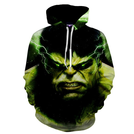 The Green Big Dude Incredible Hulk Full Print Hoodie
