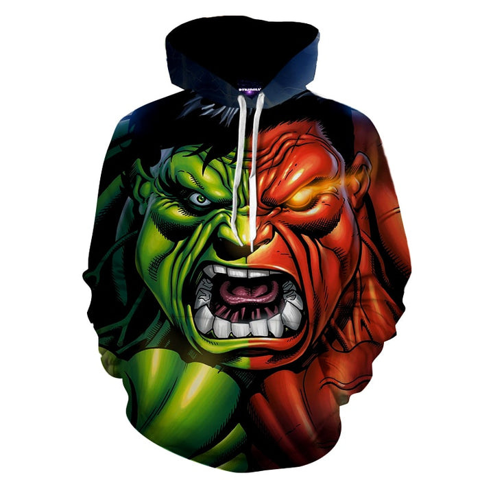 The Incredible Hulk Is About To Explode Full Print Hoodie