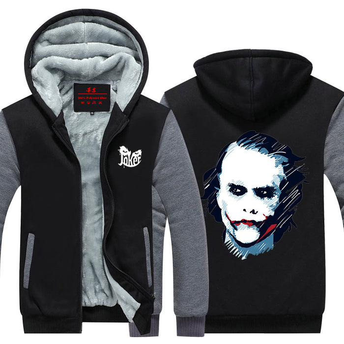 The Joker Legendary Heath Ledger Actor Portrait Hooded Jacket