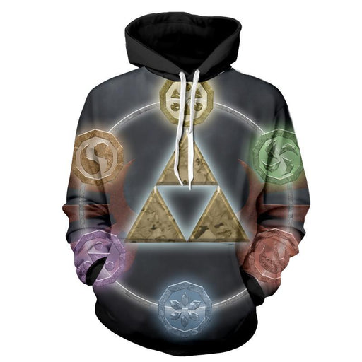 The Legend Of Zelda Awesome Symbol Of The Time Hoodie