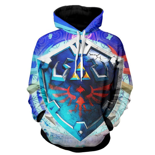 The Legend Of Zelda Cool Skyward Sword Hylian Shield Hoodie