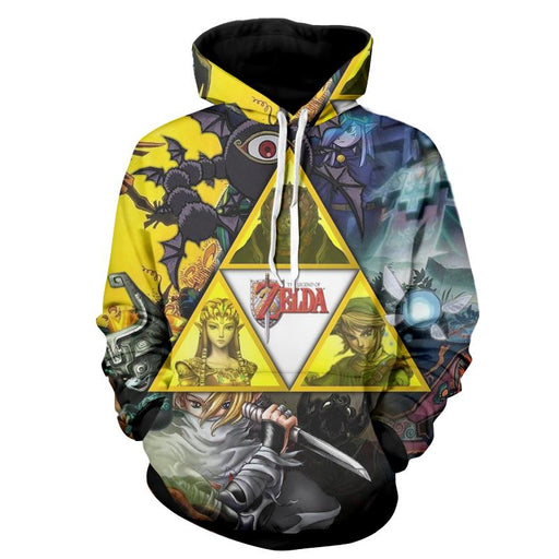 The Legend Of Zelda Link Princess Zelda And Ganon Hoodie