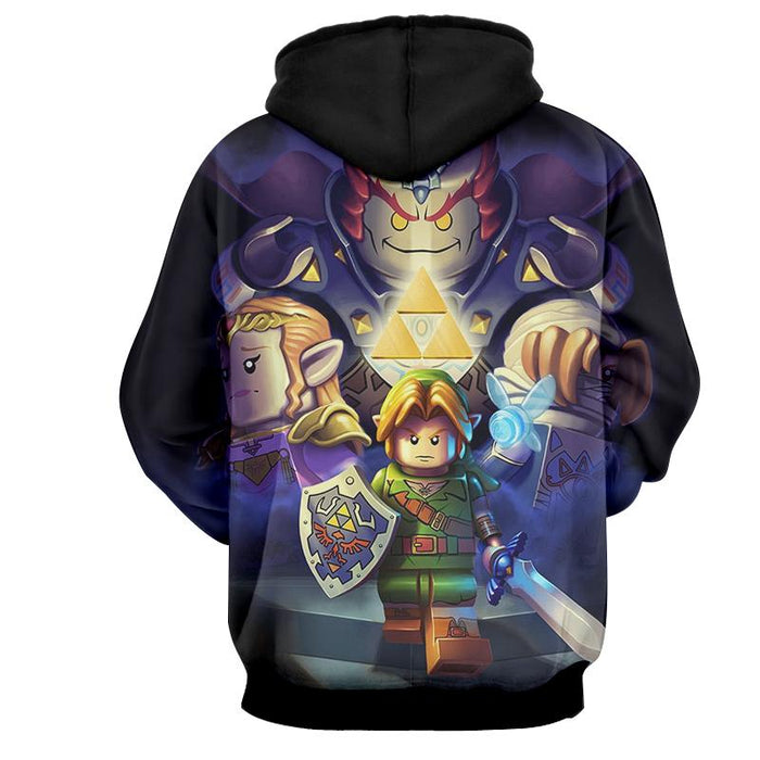 The Legend Of Zelda Link Princess Zeld Ganon Hoodie
