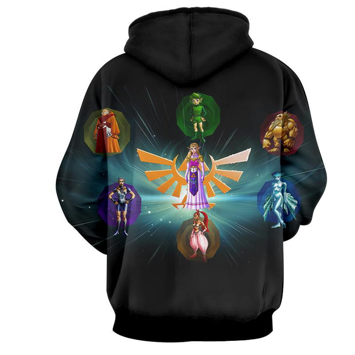 The Legend Of Zelda Perfect Colourful The Characters Hoodie