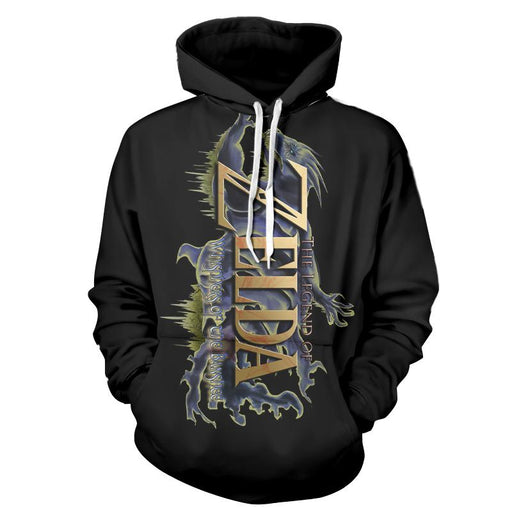 The Legend Of Zelda Stunning Mythtic Symbol Black Hoodie