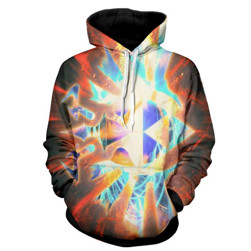 The Legend Of Zelda The Symbol With Lighting Thunder Hoodie