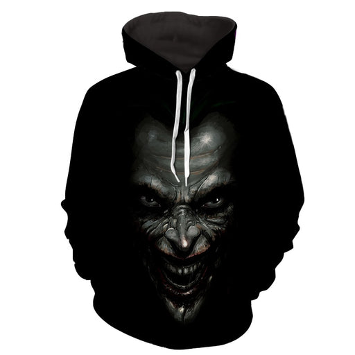The Mad Badass Joker Black Design Full Print Hoodie