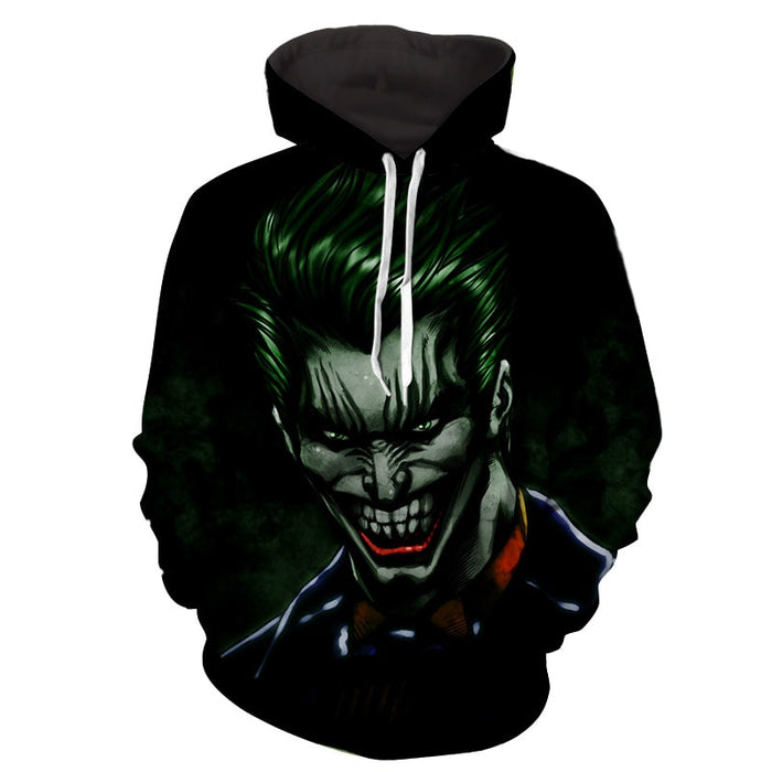 The Mad Evil Face Of Joker Design Full Print Hoodie