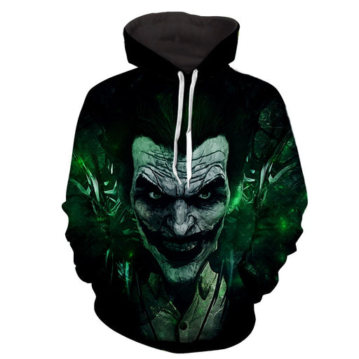 The Mischievous Brutal Joker Design Full Print Hoodie