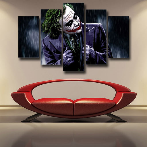 The Psychopathic Killer Joker 5pcs Wall Art Canvas Print