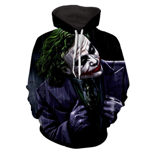 The Psychopathic Killer Joker Design Full Print Hoodie