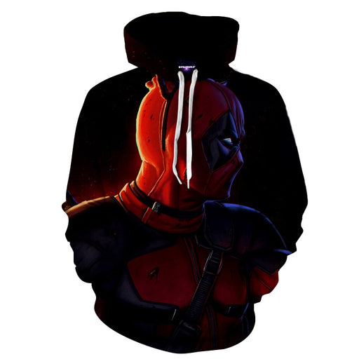 The Serious Side Of Deadpool Superhero Full Print Hoodie