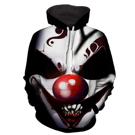 The Smile Of Insane Clown Joker Design Full Print Hoodie