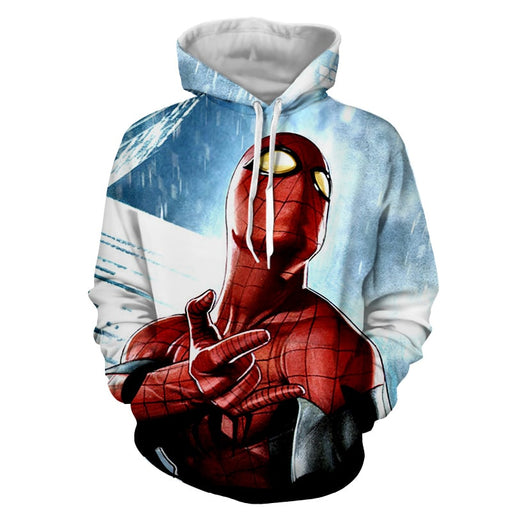 The Spider-Man Power Net Sign Full Print Design Hoodie