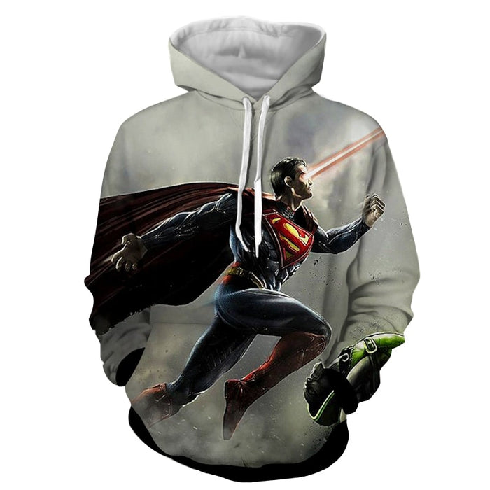 The Strong Striking Superman Design Full Print Hoodie