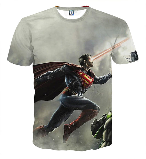 The Strong Striking Superman Design Full Print T-Shirt